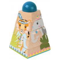 leolandia - Pyramide à empliler Jungle