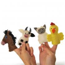 PAPOOSE TOYS - Marionnettes à doigts en laine feutrée - Ferme
