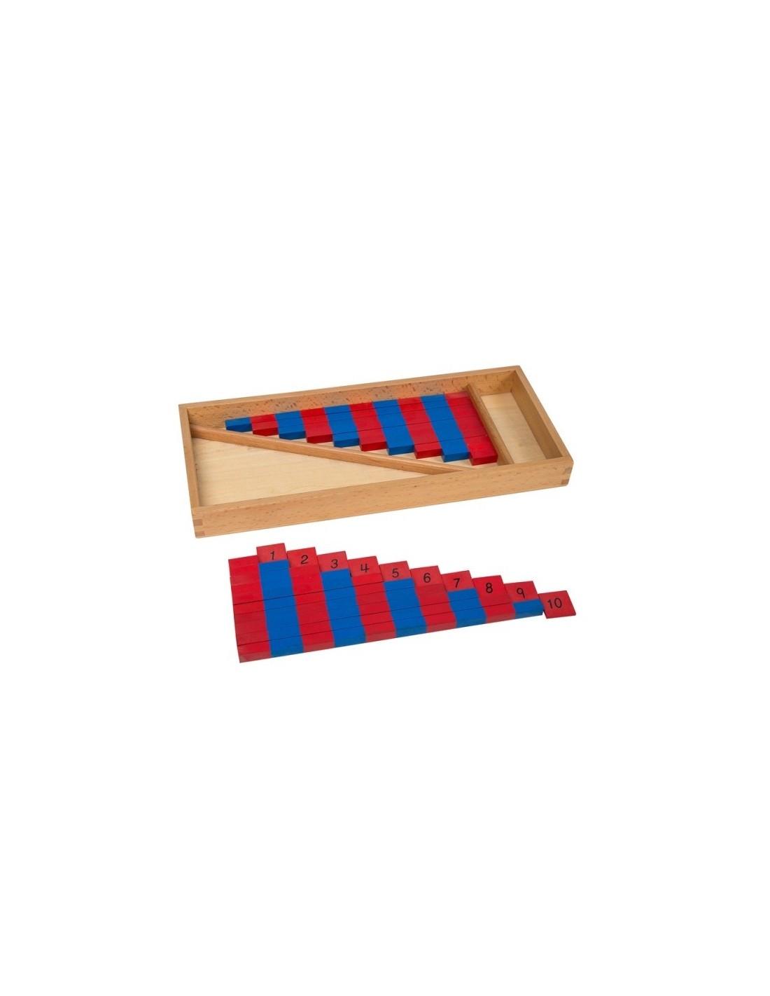 MontessoriSamuserAutrement - Barres rouges et bleues avec chiffres
