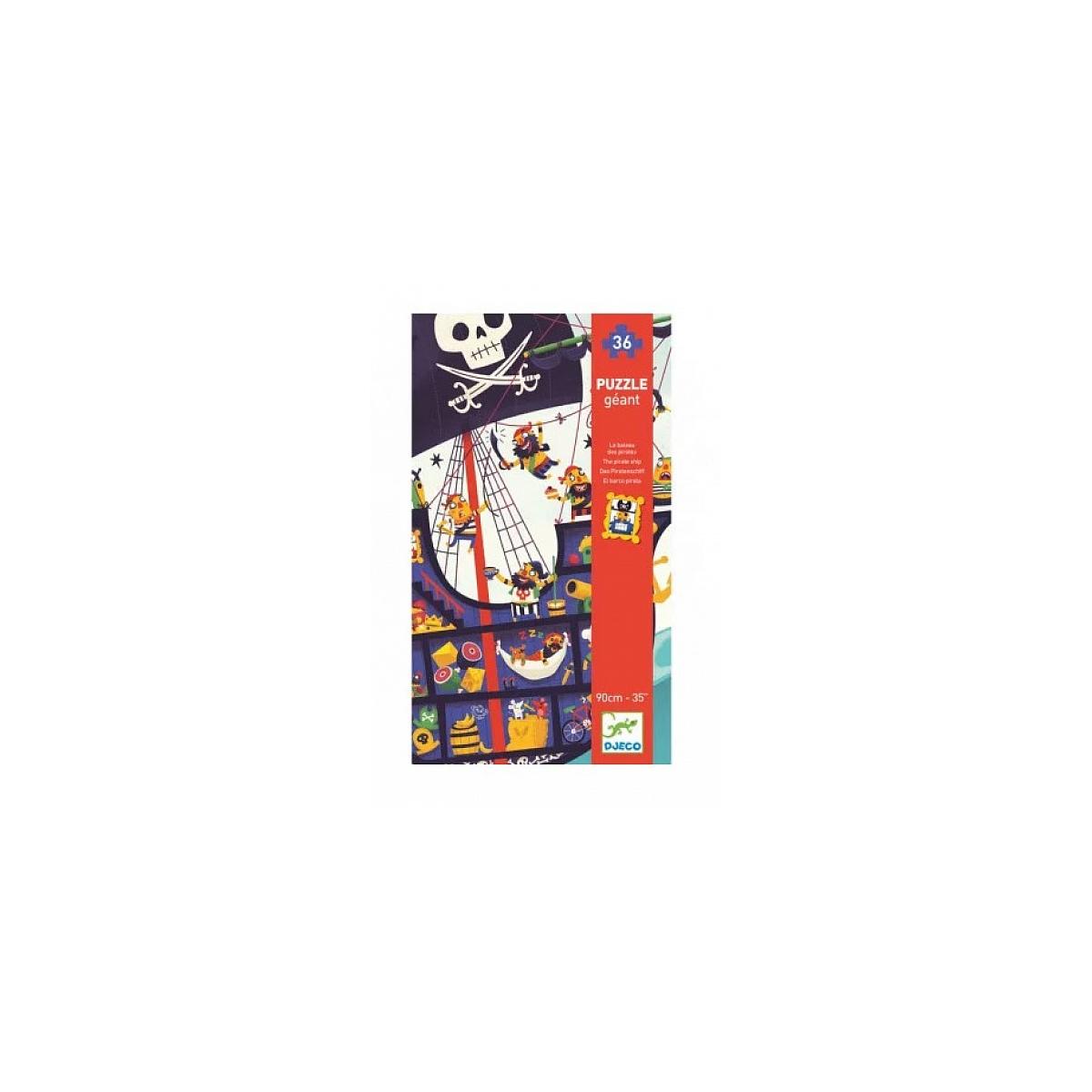 Djeco - Puzzle Géant Le Bateau Des Pirates - 36 Pièces
