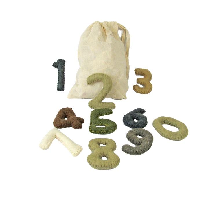 PAPOOSE TOYS - Chiffres en laine feutrée