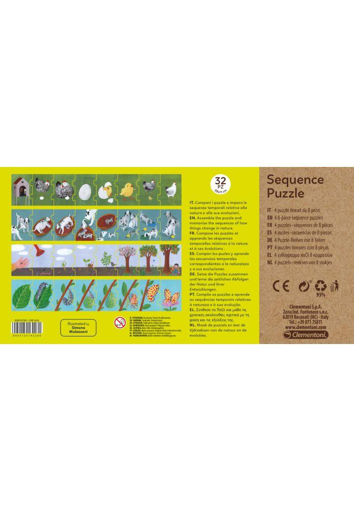 clementoni - Séquence puzzle - cycles de vie
