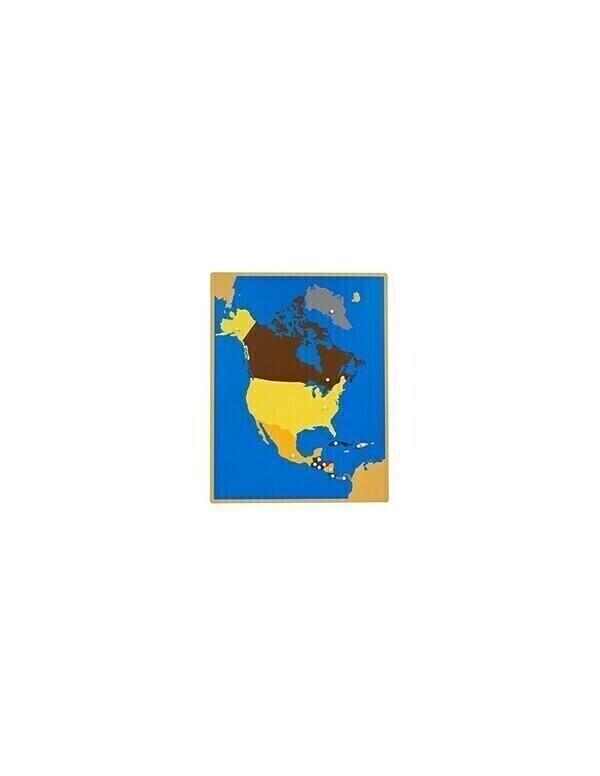 MontessoriSamuserAutrement - Carte puzzle Amérique du Nord