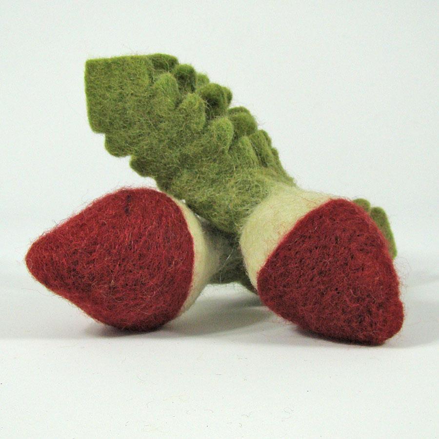 PAPOOSE TOYS - Légumes en laine feutrée - 2 radis