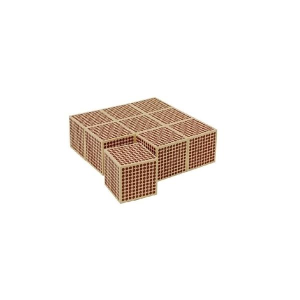 MontessoriSamuserAutrement - 9 cubes de 1000 en bois
