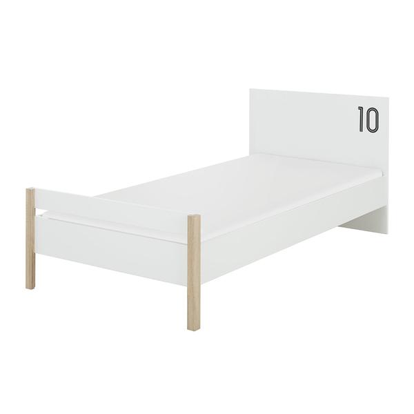 Gami - Lit 90x190 Kyllian - Chêne et blanc