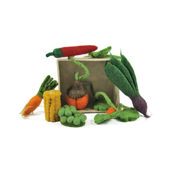 PAPOOSE TOYS - Mini légumes en laine feutrée - set de 6