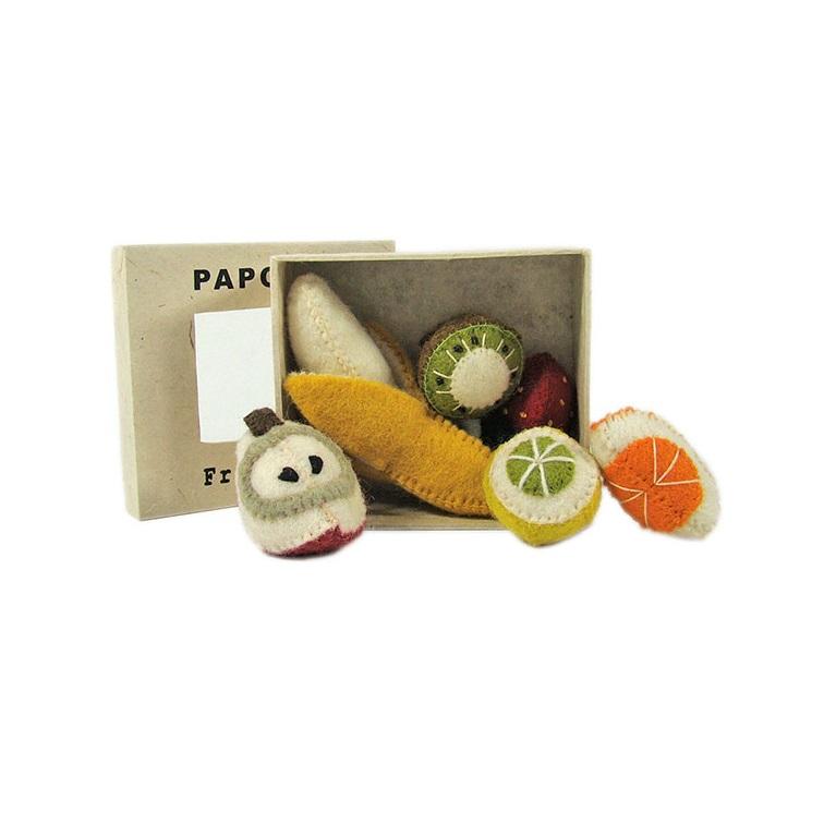 PAPOOSE TOYS - Mini fruits en laine feutrée - set de 6
