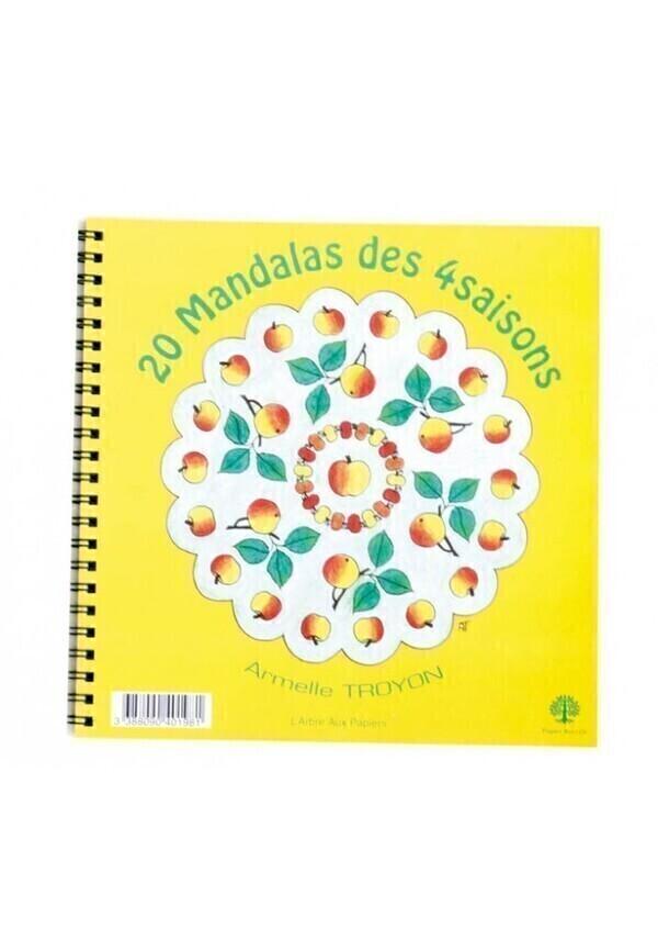 Ecodis - Cahier 20 mandalas des 4 saisons