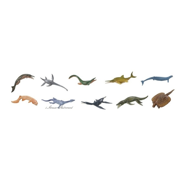 Safari - 10 figurines vie marine préhistorique