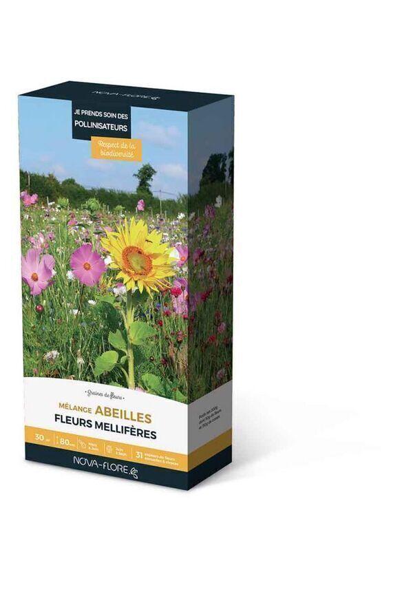 Novaflore - Mélanges abeilles fleurs mellifères 30 m2