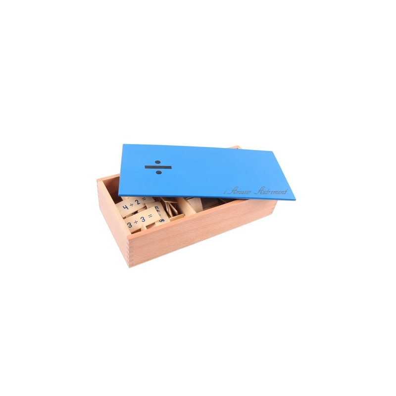MontessoriSamuserAutrement - Grande boite des divisions bleue
