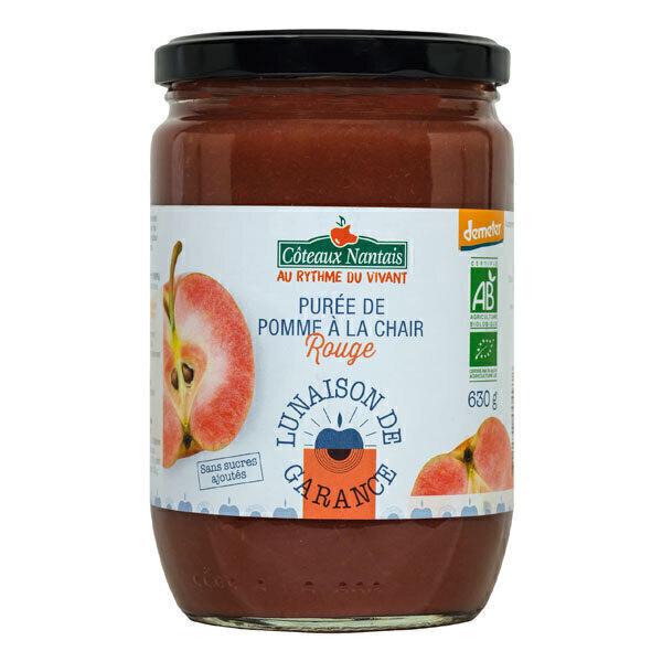 Côteaux Nantais - Purée de pommes chair rouge Demeter 630g