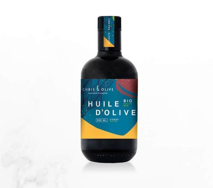 Chris&olive - Huile d'olive BIO, Fruité mûr 500ml, récolte 2020