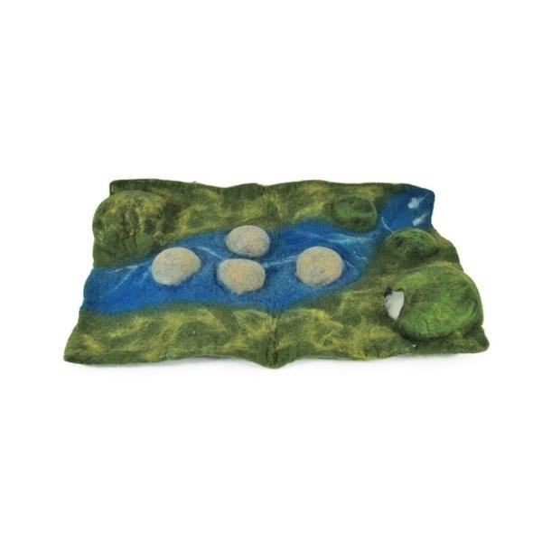 PAPOOSE TOYS - Monde des Dinosaures en laine feutrée - Tapis paysage