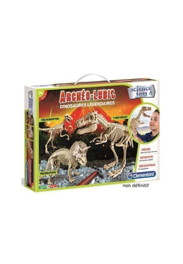 clementoni - Archéo-ludic - dinosaures légendaires