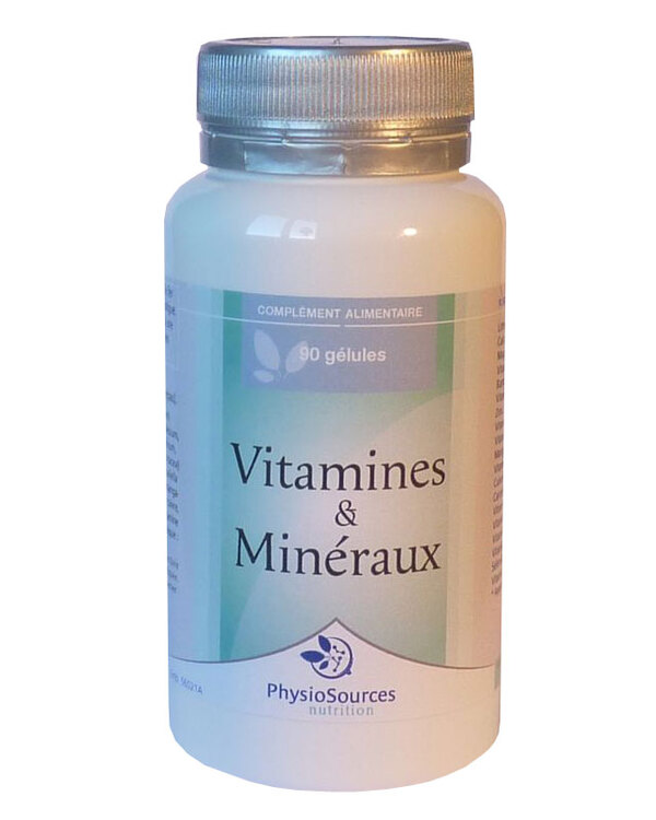 Physio Sources - VITAMINES & MINERAUX 90 gélules 438 mg