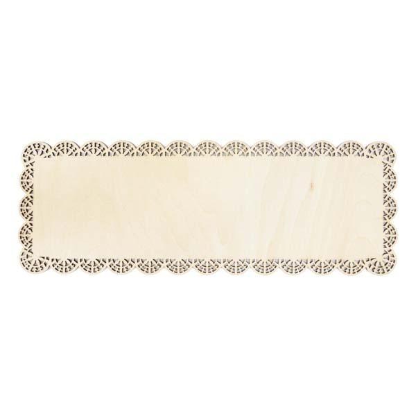 ScrapCooking - Plat rectangle dentelle bois 36x13cm