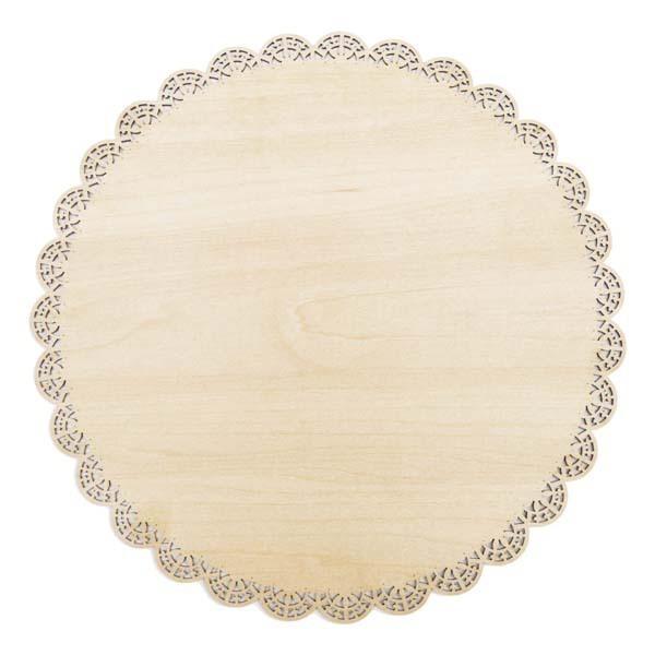 ScrapCooking - Plat rond dentelle bois 29cm