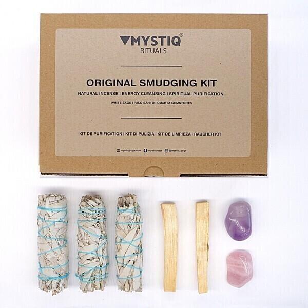 Mystiq Yoga - Kit de Purification ORIGINAL - Sauge, Palo Santo - Encens