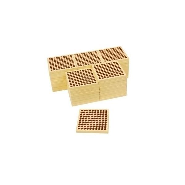 MontessoriSamuserAutrement - 45 carrés de 100 en bois