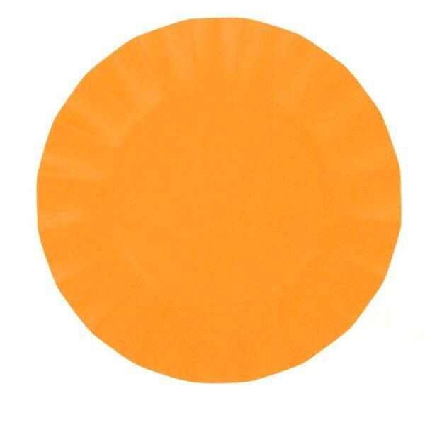 EXCLUSIVE TRADE - 8 Petites Assiettes Compostable Orange