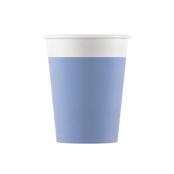 DECORATA PARTY - 8 Gobelets Bleu - Compostable