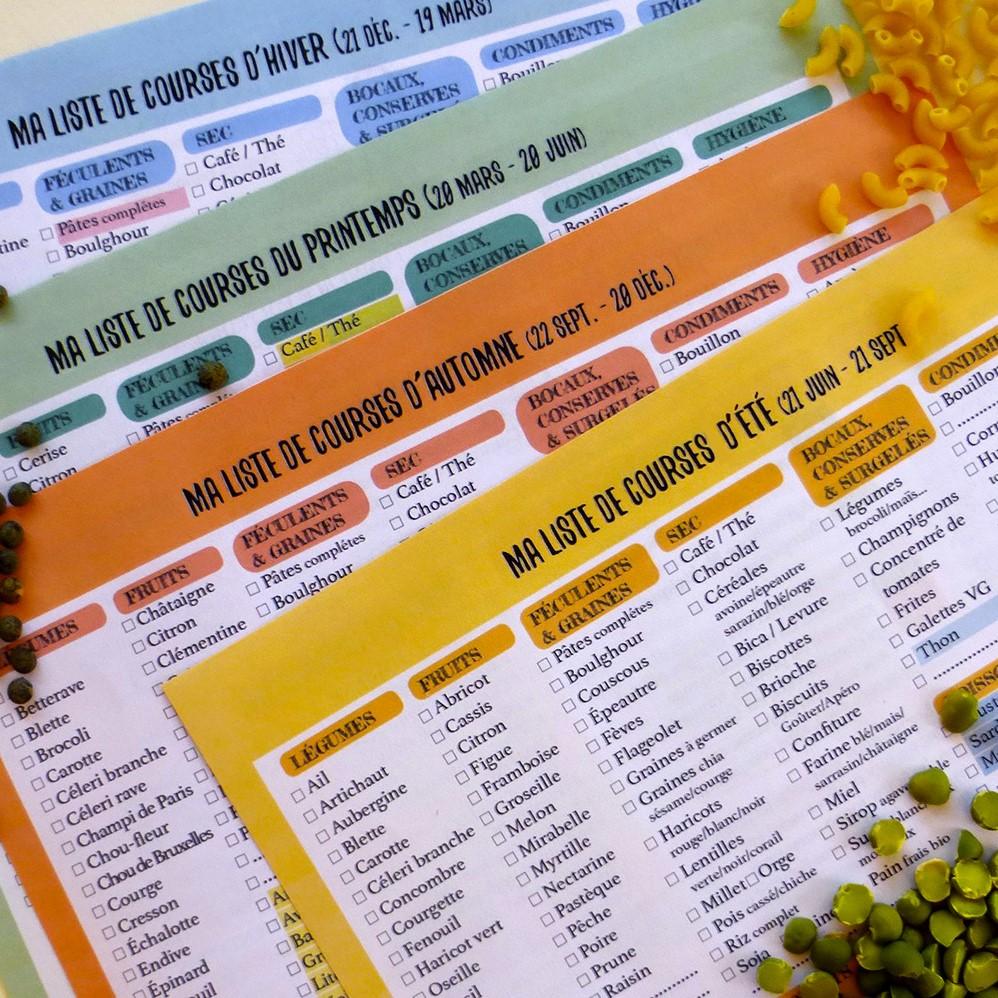 Nos Mondes Alternatifs - Listes de courses