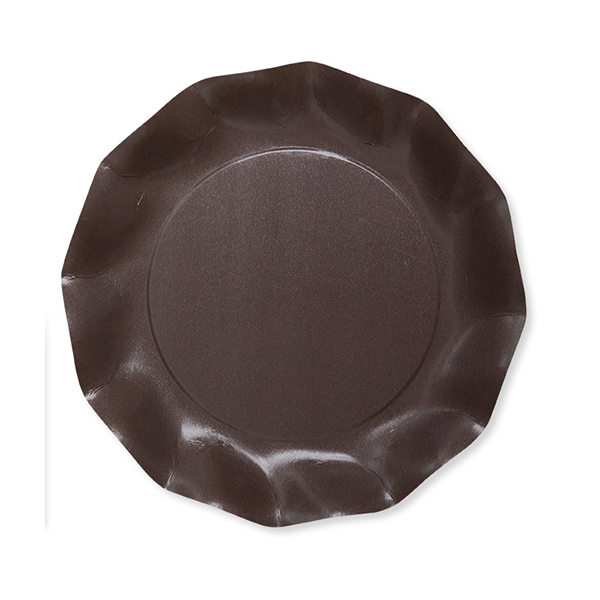 EXCLUSIVE TRADE - 8 Petites Assiettes Compostable Marron