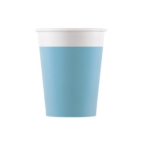 DECORATA PARTY - 8 Gobelets Turquoise - Compostable