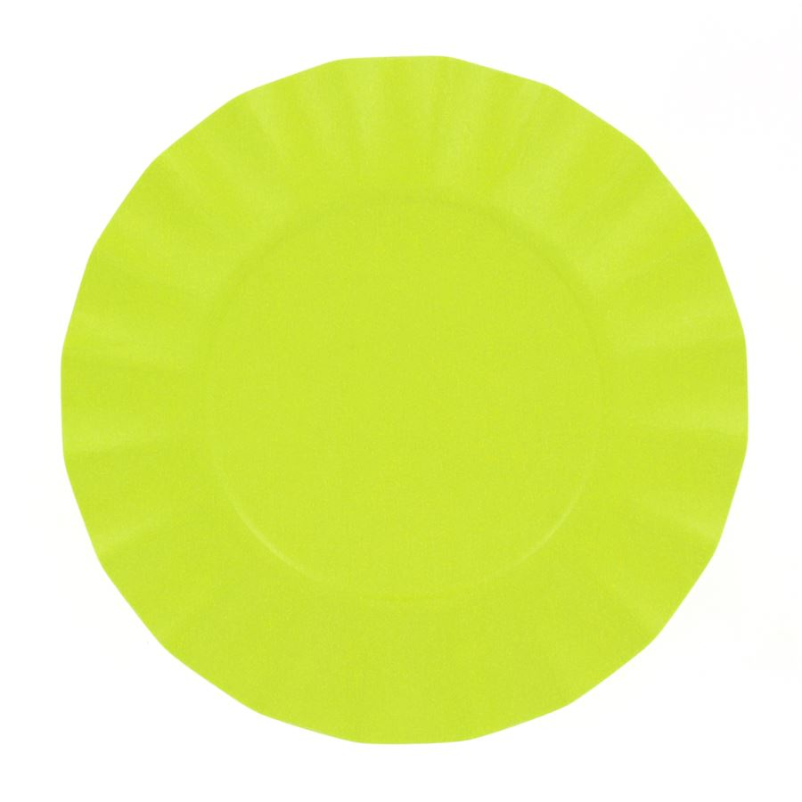 EXCLUSIVE TRADE - 8 Petites Assiettes Compostable Vert Lime