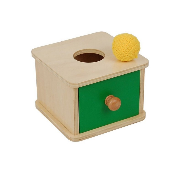 MontessoriSamuserAutrement - Boite d'encastrement tiroir et balle tissu
