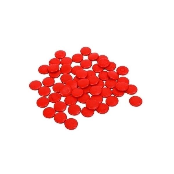 MontessoriSamuserAutrement - Lot de 55 jetons rouges