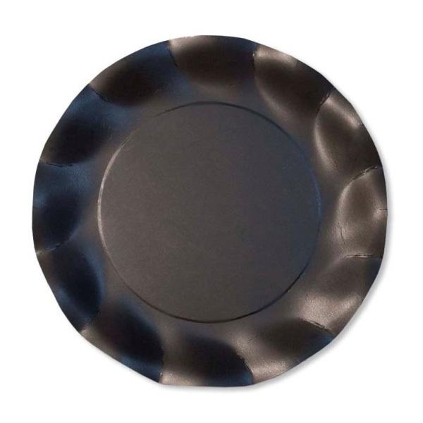 EXCLUSIVE TRADE - 8 Petites Assiettes Compostable Noir