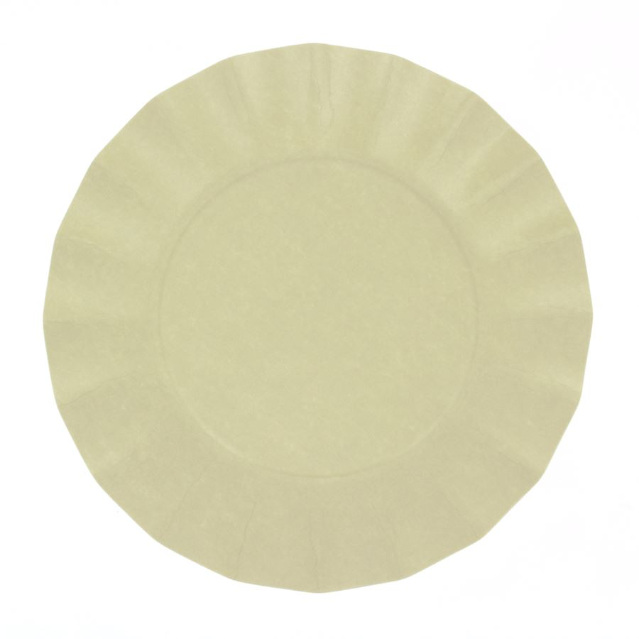 EXCLUSIVE TRADE - 8 Petites Assiettes Compostable Taupe