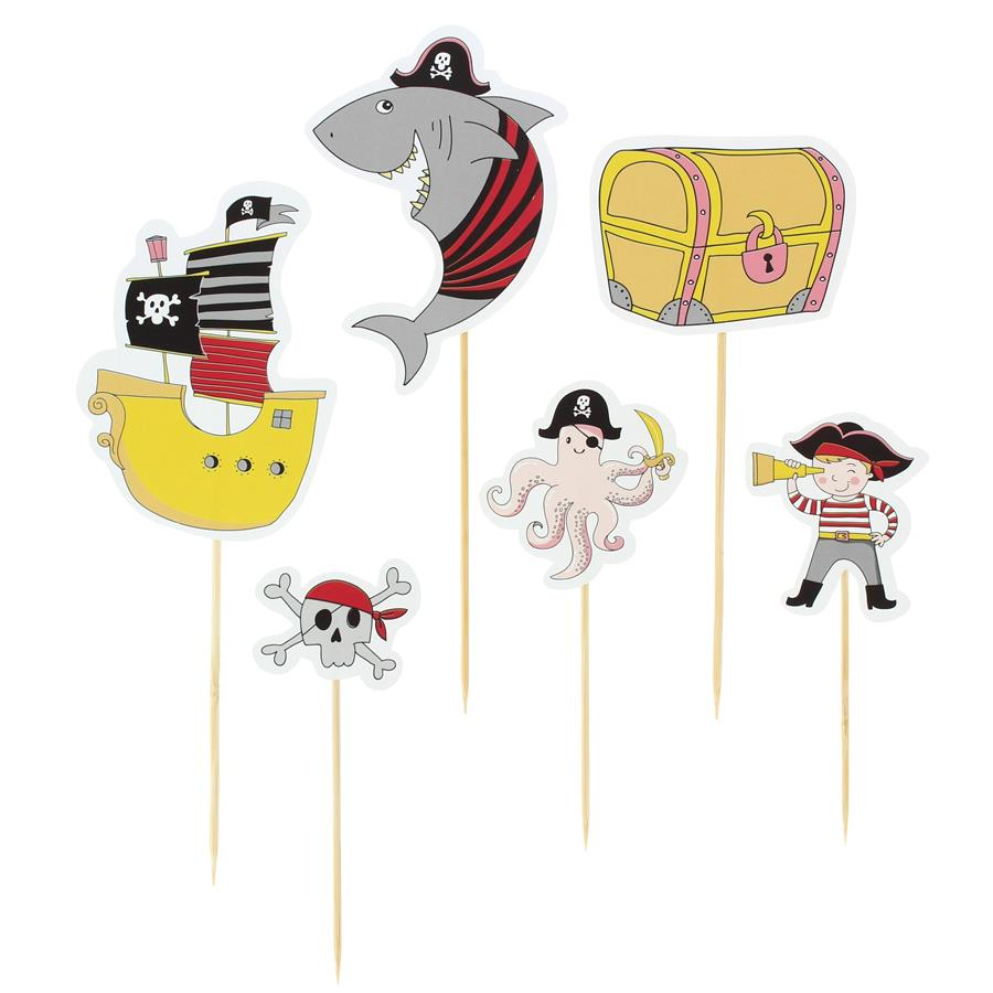 Annikids - Cake Toppers Pirate Color - Recyclable