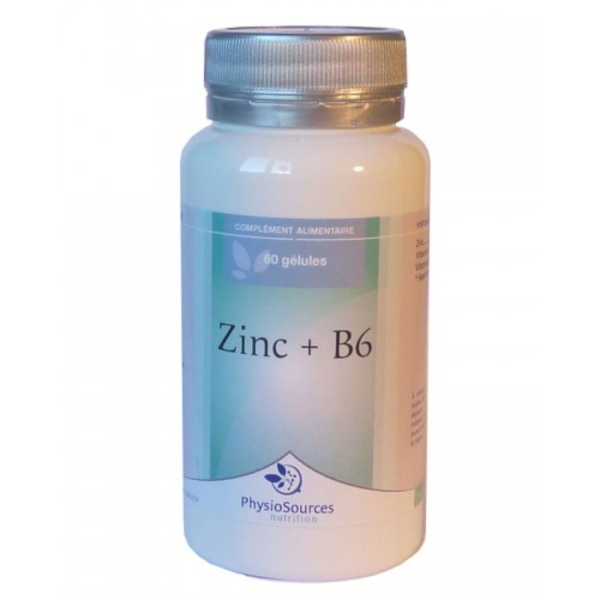 Physio Sources - ZINC + B6 60 gélules 300 mg