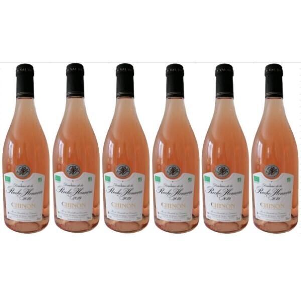 Vinaccus - Chinon 2019 - Rosé sec AOC - en 6 bouteilles de 75cl.