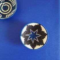 Fleur de Soleil - Nappe enduite Unie bleu royal - Carrée 160x160cm