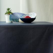 Fleur de Soleil - Nappe enduite Unie gris anthracite - Rectangle 160x200cm