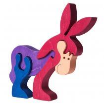 Faunatrade - Puzzle 3D Ane en bois