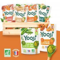 Yooji - Purees lisses de legume BIO - 7 recettes - des 4 mois
