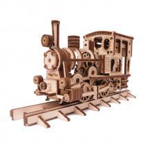 Wood Trick - Maquette de locomotive mécanique, en bois