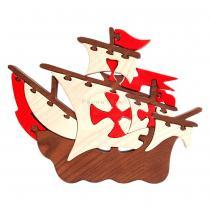 Faunatrade - Puzzle 3D Bateau Pirate en Bois