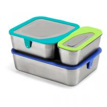 Klean Kanteen - Set 3 Lunch box inox couvercle silicone