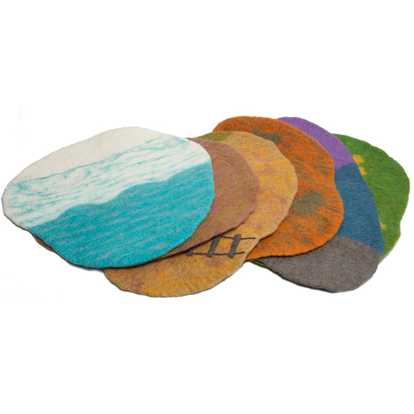 PAPOOSE TOYS - Tapis de paysage en laine feutrée - set de 6