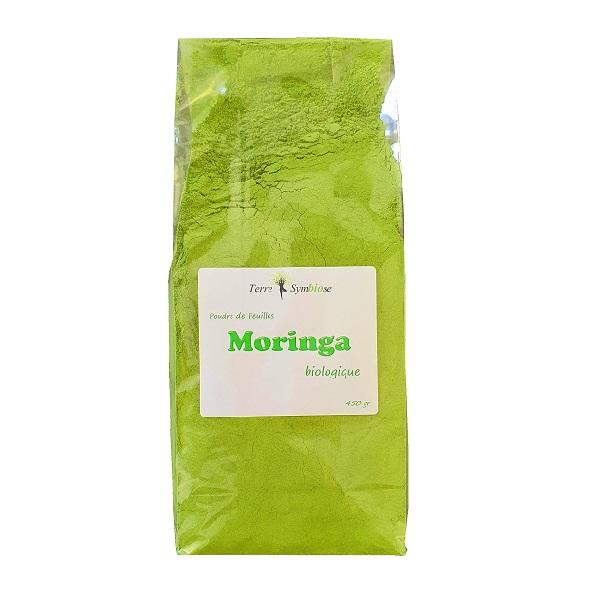 Terre Symbiose - 450g - Poudre de feuille de Moringa Biologique