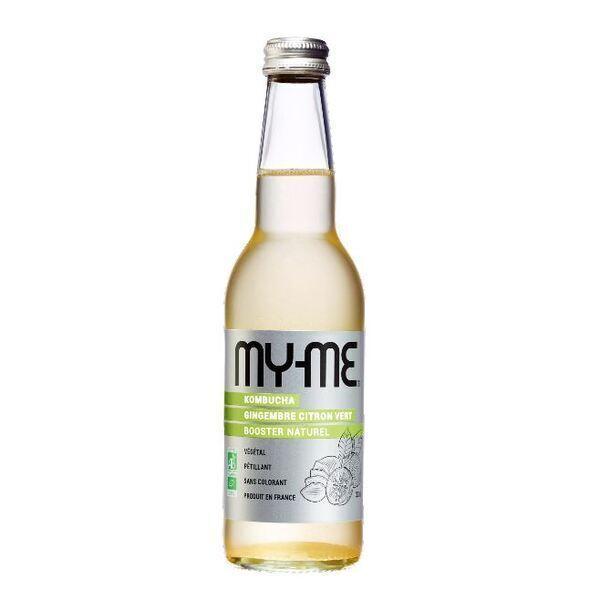 MY-ME - Pack de 12 kombucha gingembre citron vert - 33cl