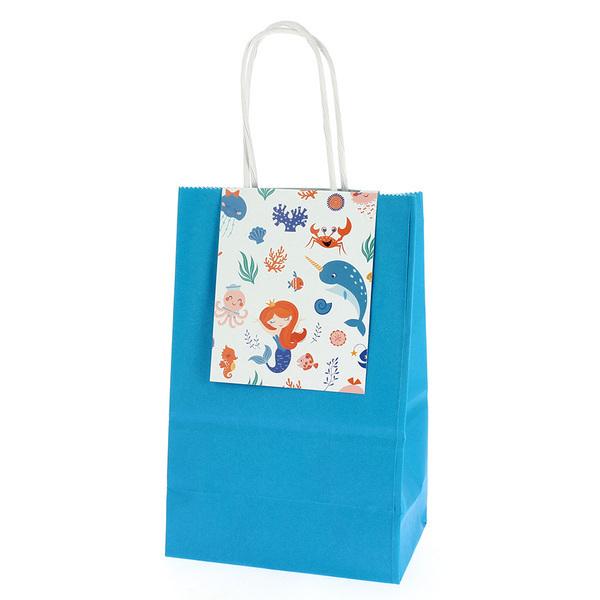Annikids - 6 Sacs Cadeaux Sirène Corail - Recyclable