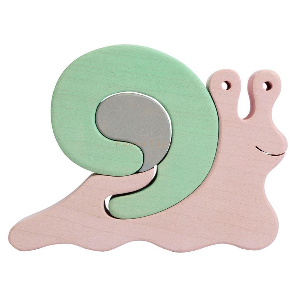 Faunatrade - Puzzle 3D Escargot en Bois
